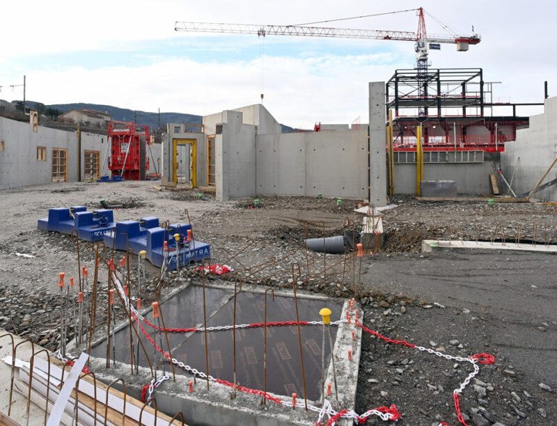 Travaux de construction de l'Arena