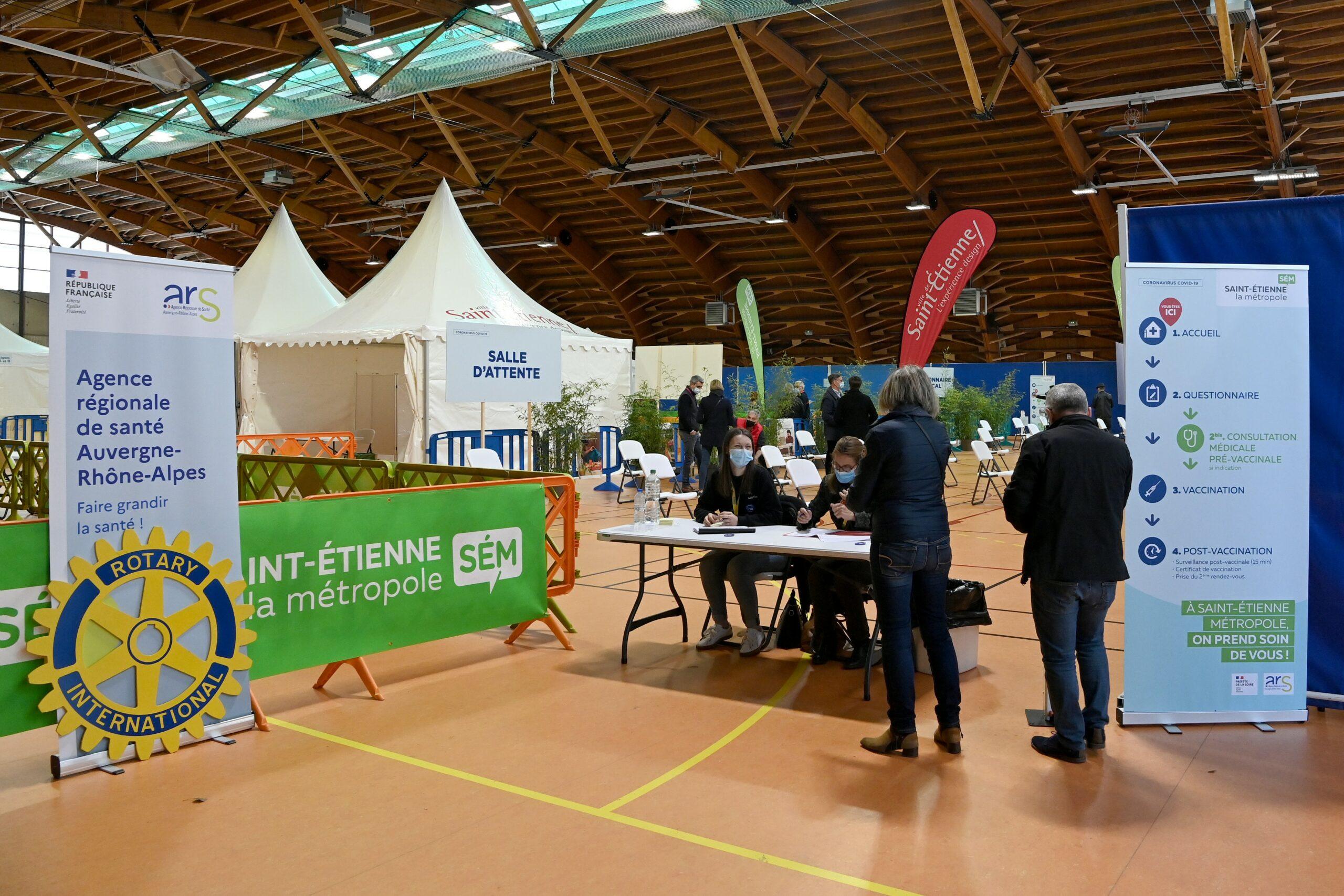 Vaccination Salle Omnisports de Saint-Étienne