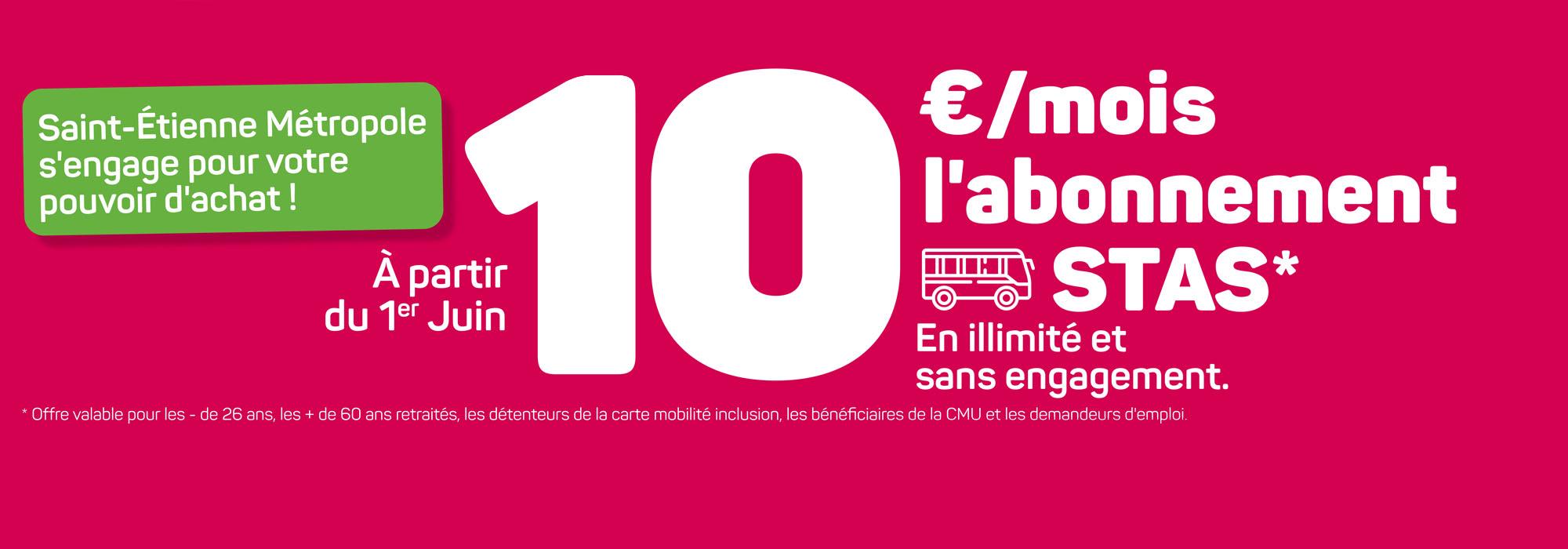 Abonnement à 10€/mois