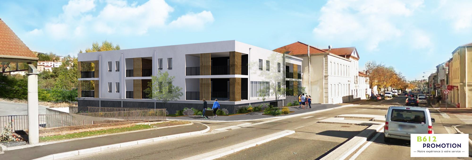 Perspective du futur immeuble à L'Horme