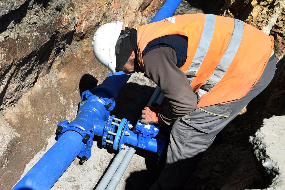 Travaux de réseaux d'eaux