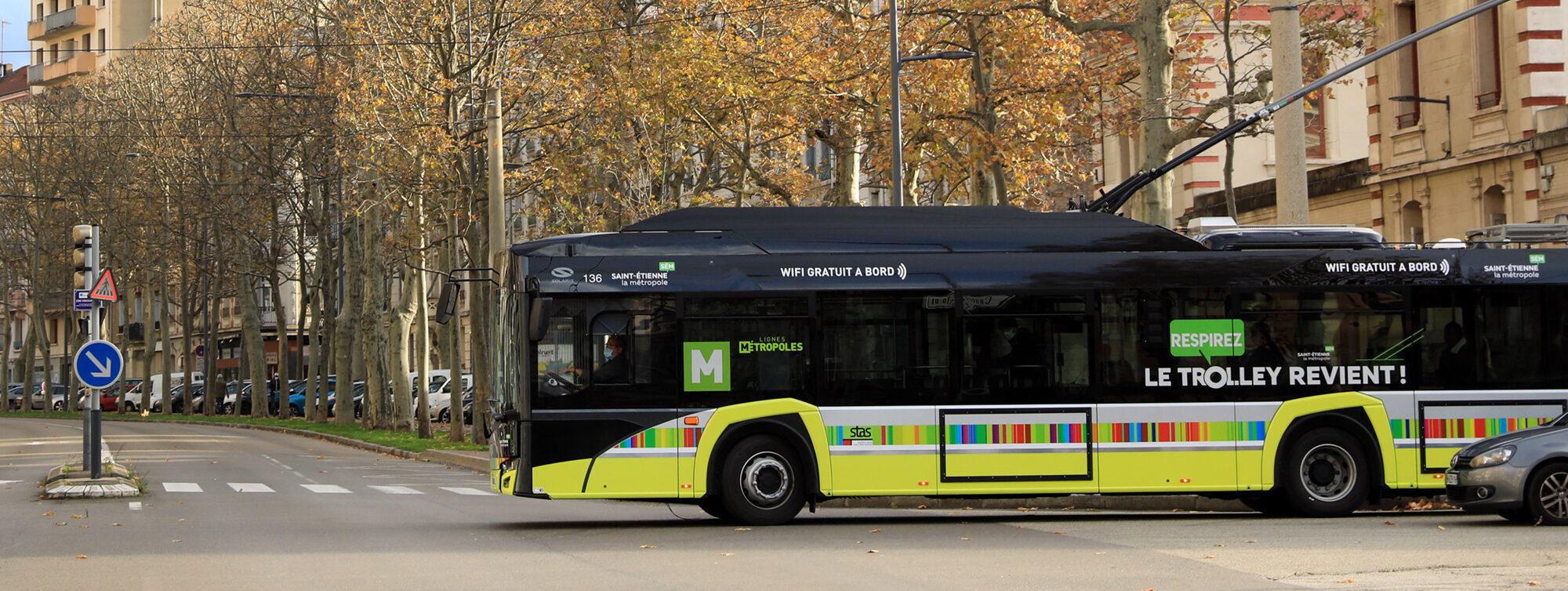 Trolleybus à Saint-Etienne